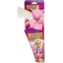 cowgirl sherrifset roze 2-delig 14 cm