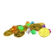 piraten munten 3,5 cm goud en diamanten