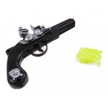 piratenpistool met schietballetjes zwart