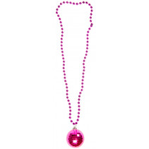 ketting discobal junior 38 cm roze