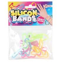 siliconen dieren armband glitter 6-delig