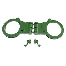 handboeien politie groen 21 x 7 x 1,5 cm