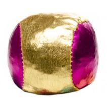 bal voor blikgooien metallic per stuk 4 cm roze/goud