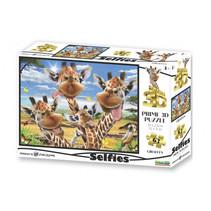 3D-puzzel Selfie Giraffe karton 63-delig