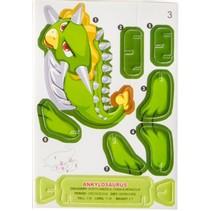 3D puzzel ankylosaurus 7 stukjes