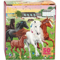 legpuzzel meisjes 8,5 cm karton groen 50 stuks