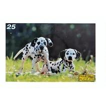 legpuzzel dalmatiërs 25 stuks multicolor
