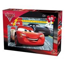 legpuzzel Disney Cars 3 rood/blauw 50 stukjes