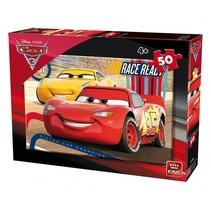 legpuzzel Disney Cars 3 junior karton 50 stukjes