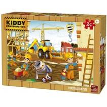 legpuzzel Kiddy Constructions - construction site 24 st