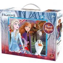 vloerpuzzel Disney Frozen II junior 60 x 50 cm 24 stukjes