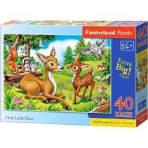 vloerpuzzel Dear little deer 40 stukjes maxi