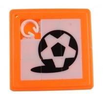schuifpuzzel voetbal 5 cm oranje 8 stukjes