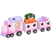speelgoedtrein Pasen meisjes 38 cm klei led roze