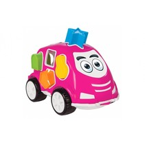 vormendoos auto roze junior 21 cm