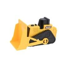 bouwvoertuig bulldozer 12 cm geel
