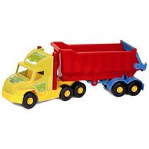 kiepwagen XXL 75 cm met rode bak
