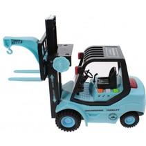 vorkheftruck Forklift met licht en geluid blauw 29 cm