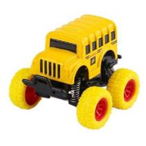 monstertruck schoolbus jongens 9 cm staal geel