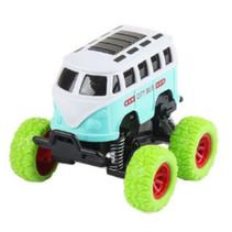 monstertruck citybus jongens 9 cm staal wit/groen