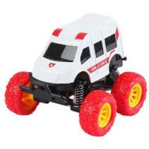 monstertruck ambulance jongens 9 cm staal wit