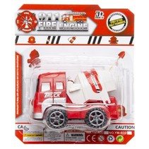 cementwagen - brandweer 9 cm rood