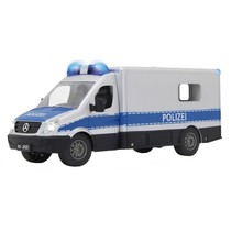 RC Mercedes Sprinter Polizei 2,4 GHz 1:16 zilver/blauw
