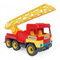ladderwagen 40 cm rood/geel