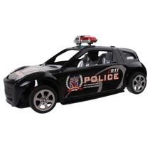 politieauto zwart 15 cm