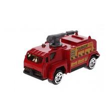 schaalmodel spuitwagen 1:64 rood 7 cm