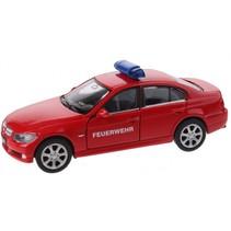 schaalmodel Nex BMW Feuerwehr die-cast rood 11 cm