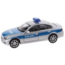 schaalmodel Nex BMW Polizei die-cast zilver 11 cm