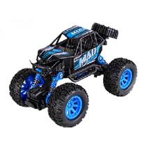 auto Crawler jongens 17 cm staal zwart/blauw