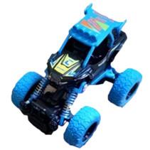 crossauto jongens 11,5 cm staal blauw
