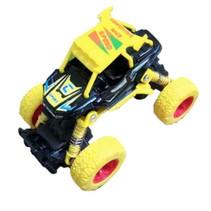 crossauto jongens 11,5 cm staal geel
