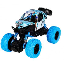 auto Crawler jongens 17 cm staal blauw/zwart