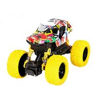 auto Crawler jongens 17 cm staal geel/zwart