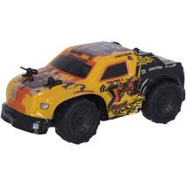 RC auto 4x4 15 cm 1:32 geel/zwart
