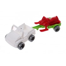Kids Cars aanhanger met jetski wit/rood