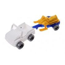 Kids Cars aanhanger met jetski wit/geel