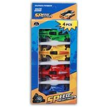 raceauto's 6 x 2,5 x 1 cm 4-delig