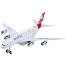 vliegtuig Airbus 3803 18 cm rood/wit