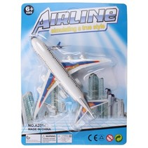 vliegtuig 13,5 x 13,5 cm wit