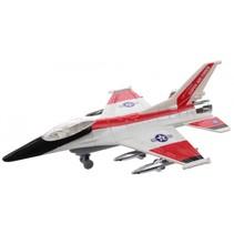 straaljager F-16 Typhoon jongens 20 cm grijs/rood