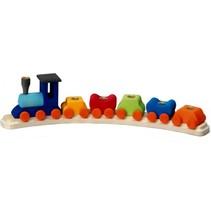 verjaardagstrein 45 cm met inzet multicolor 6-delig