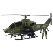 speelset Army special forces helikopter groen 3-delig