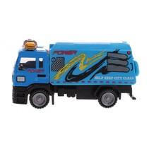 Metal vrachtwagen blauw 11 cm