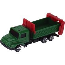 vrachtwagen met trailer 12 cm groen