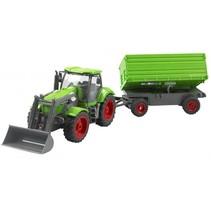 RC landbouw tractor 49 cm groen