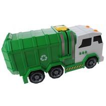 speelgoed vuilniswagen groen 39 cm